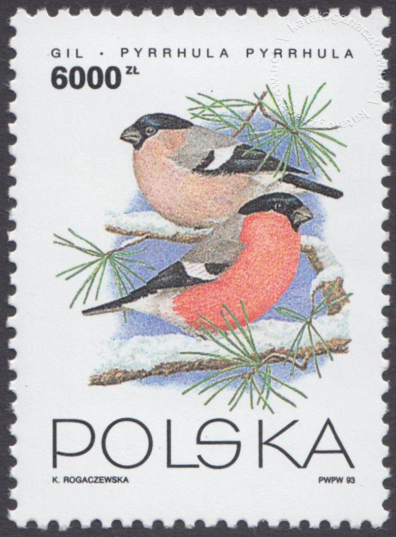 Ptaki ogrodów znaczek nr 3315