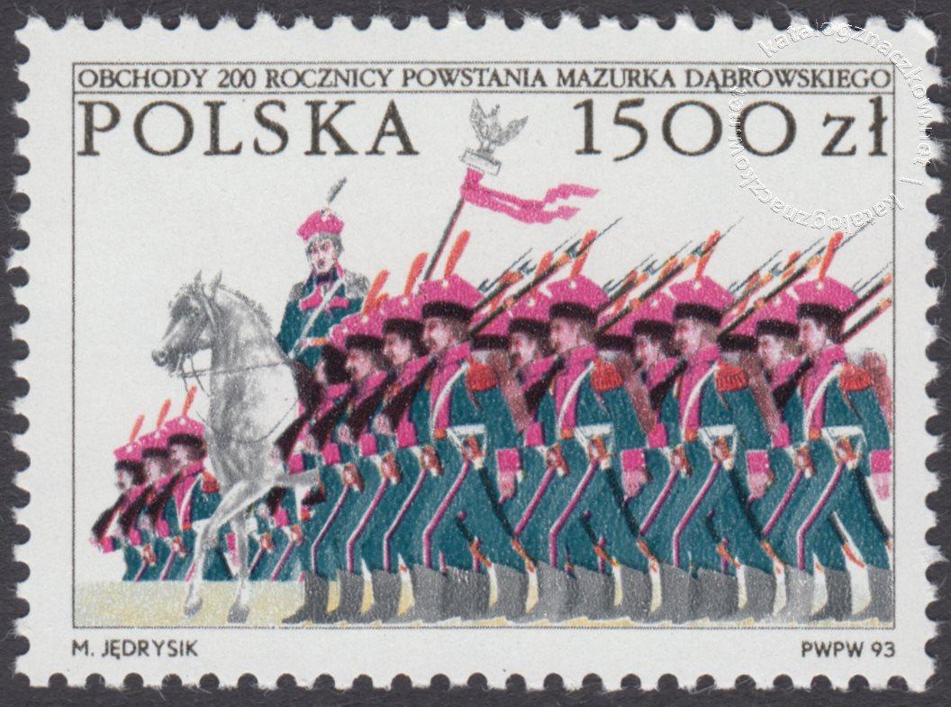 Obchody 200 rocznicy powstania Mazurka Dąbrowskiego znaczek nr 3316