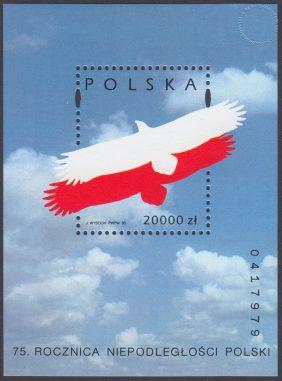 75 rocznica odzyskania niepodległości przez Polskę - Blok 110