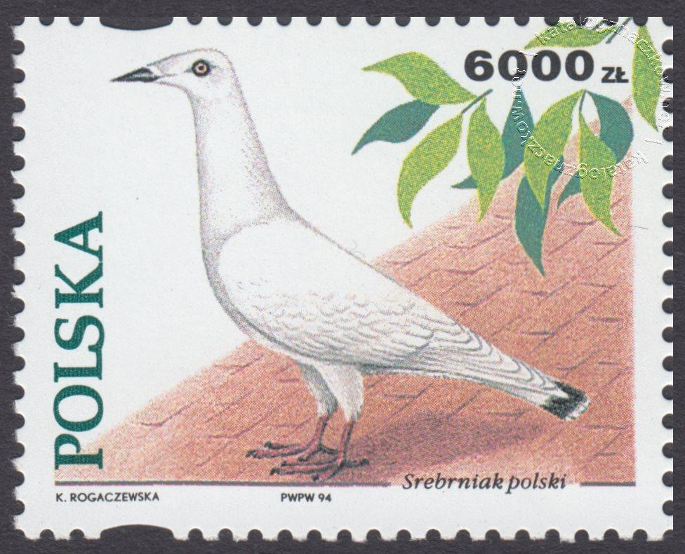 Gołębie hodowlane znaczek nr 3365