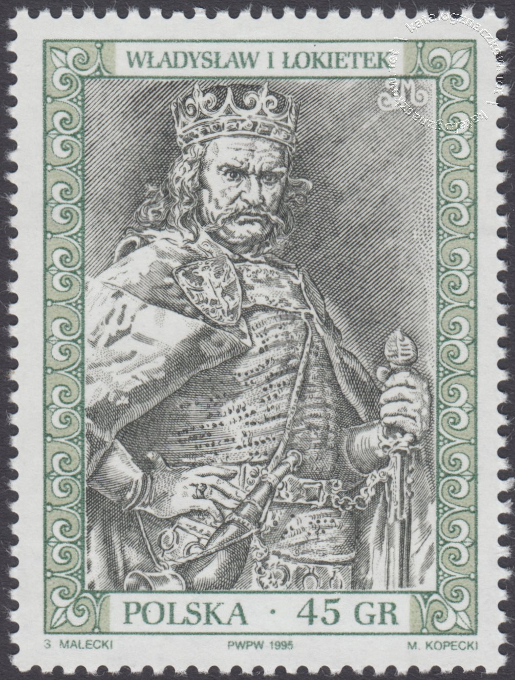 Poczet królów i książąt polskich znaczek nr 3374