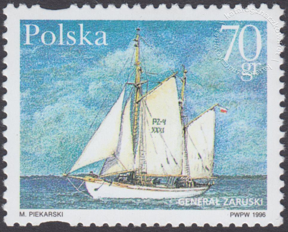 Polskie jachty pełnomorskie znaczek nr 3431