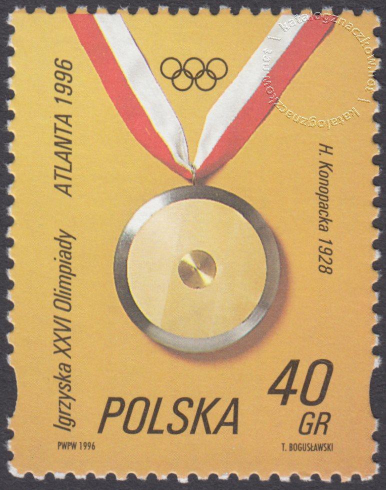 XXVI Igrzyska Olimpijskie w Atlancie znaczek nr 3457