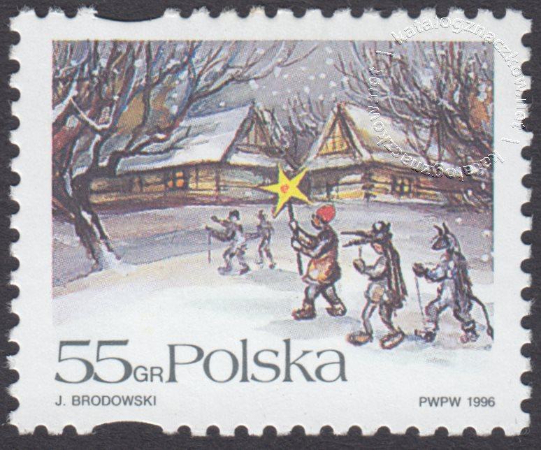 Boże Narodzenie znaczek nr 3480