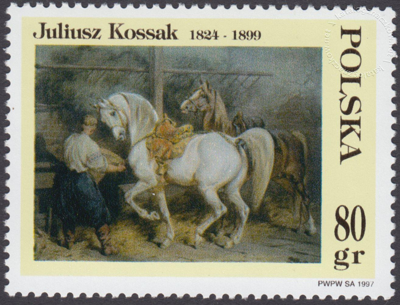 Malarstwo Juliusza Kossaka znaczek nr 3516