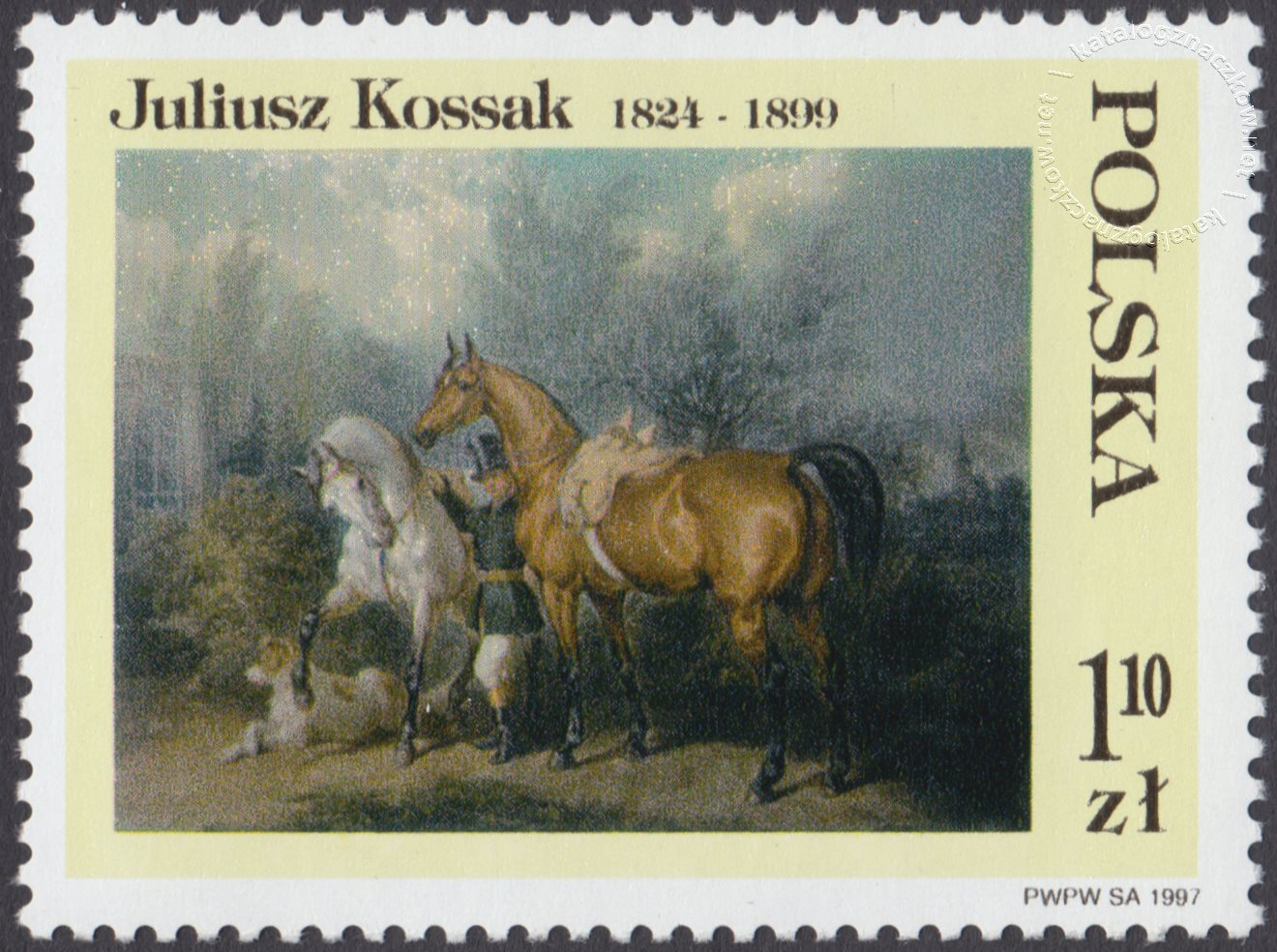 Malarstwo Juliusza Kossaka znaczek nr 3517