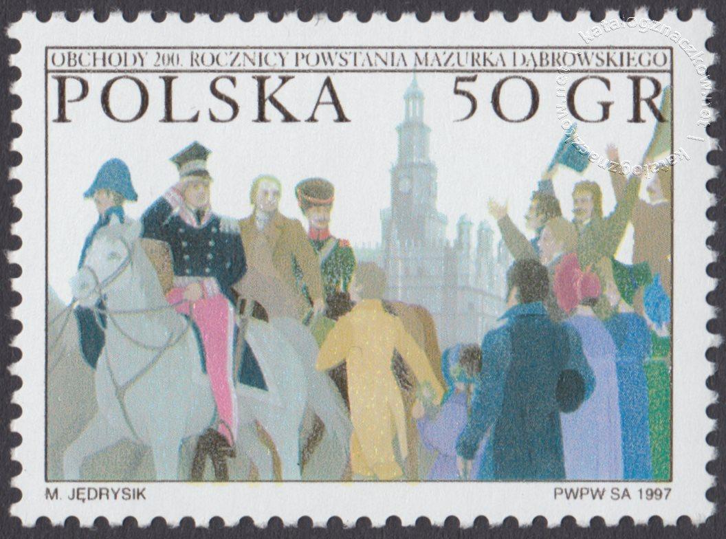 Obchody 200 rocznicy powstania Mazurka Dąbrowskiego znaczek nr 3518