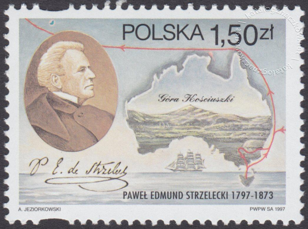 200 rocznica urodzin Pawła Edmunda Strzeleckiego znaczek nr 3520