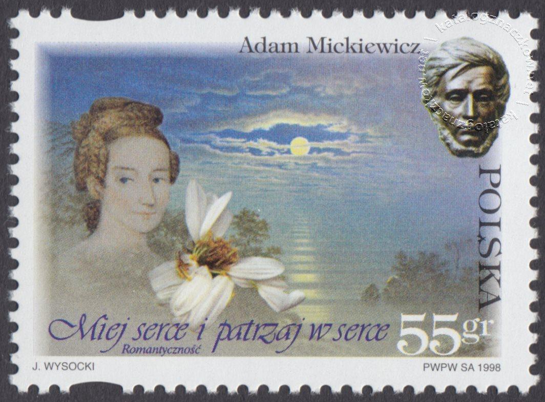 200 rocznica urodzin Adama Mickiewicza znaczek nr 3589