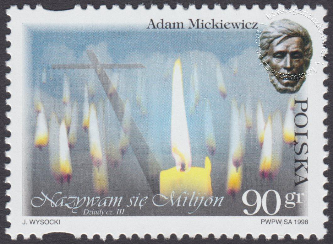 200 rocznica urodzin Adama Mickiewicza znaczek nr 3591