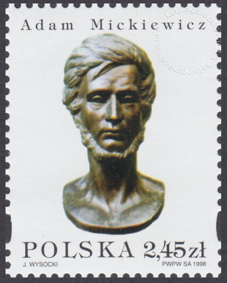 200 rocznica urodzin Adama Mickiewicza znaczek nr 3593