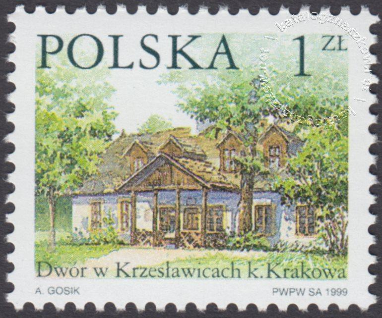 Dworki polskie znaczek nr 3625