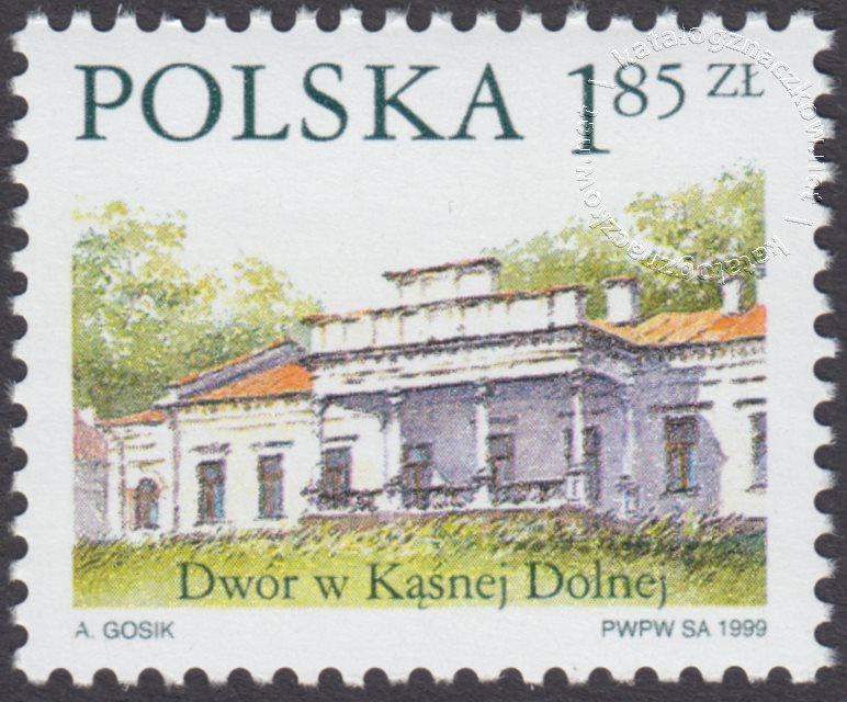 Dworki polskie znaczek nr 3628