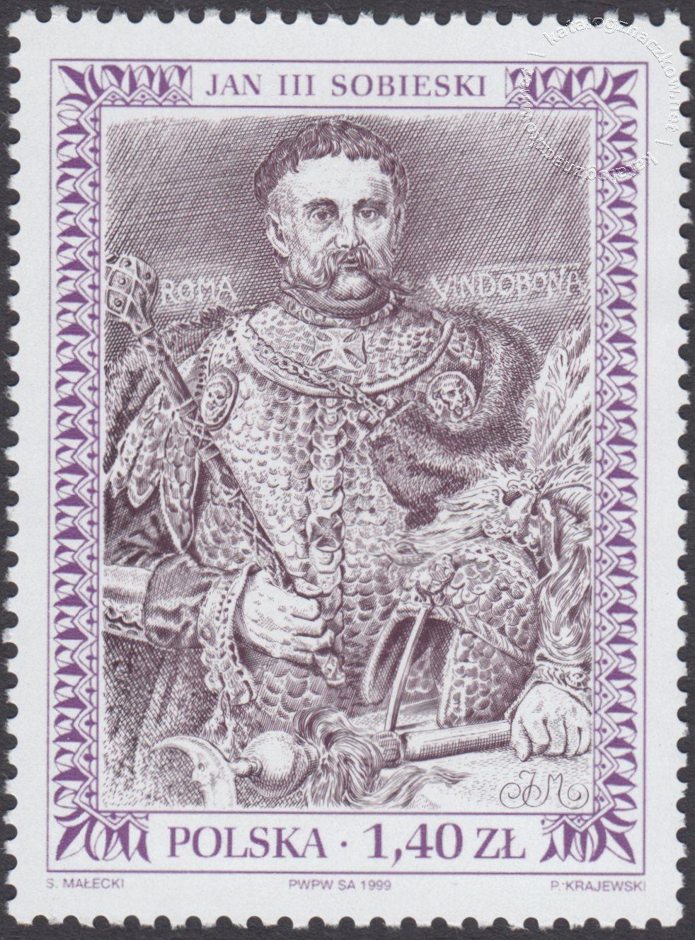 Poczet królów i książąt polskich znaczek nr 3644
