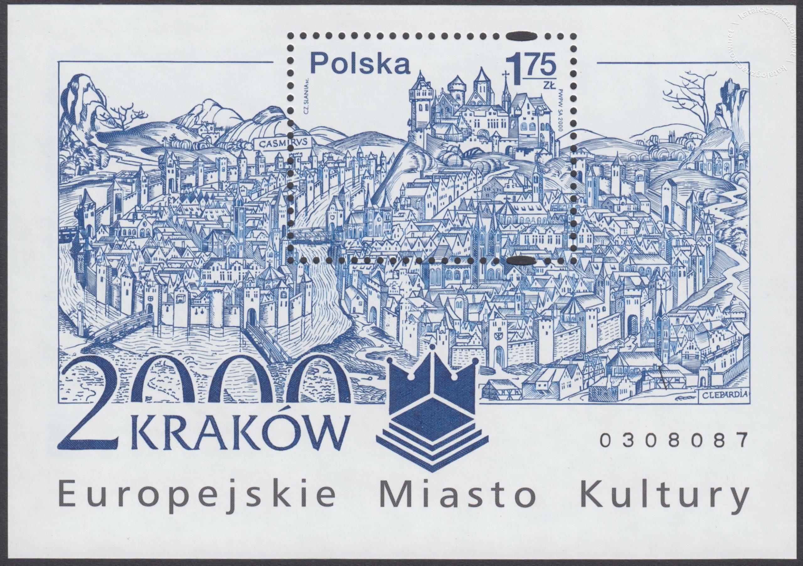 Kraków – Europejskie Miasto Kultury roku 2000 – Blok 125B