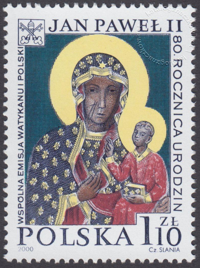 80 rocznica urodzin Papieża Jana Pawła II znaczek nr 3683