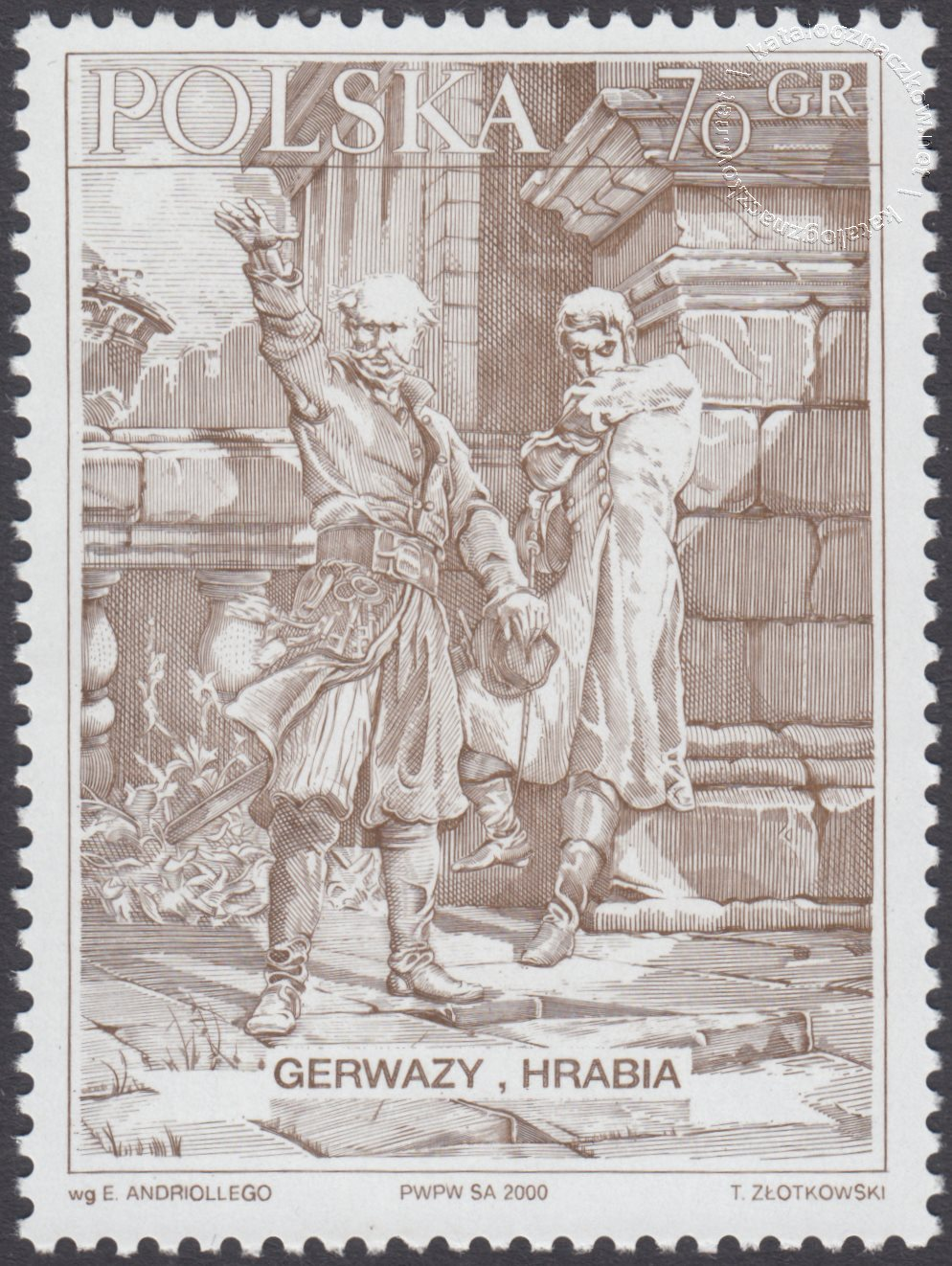 Bohaterowie Pana Tadeusza znaczek nr 3691