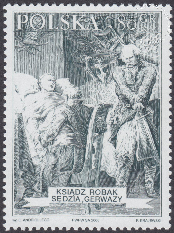 Bohaterowie Pana Tadeusza znaczek nr 3693