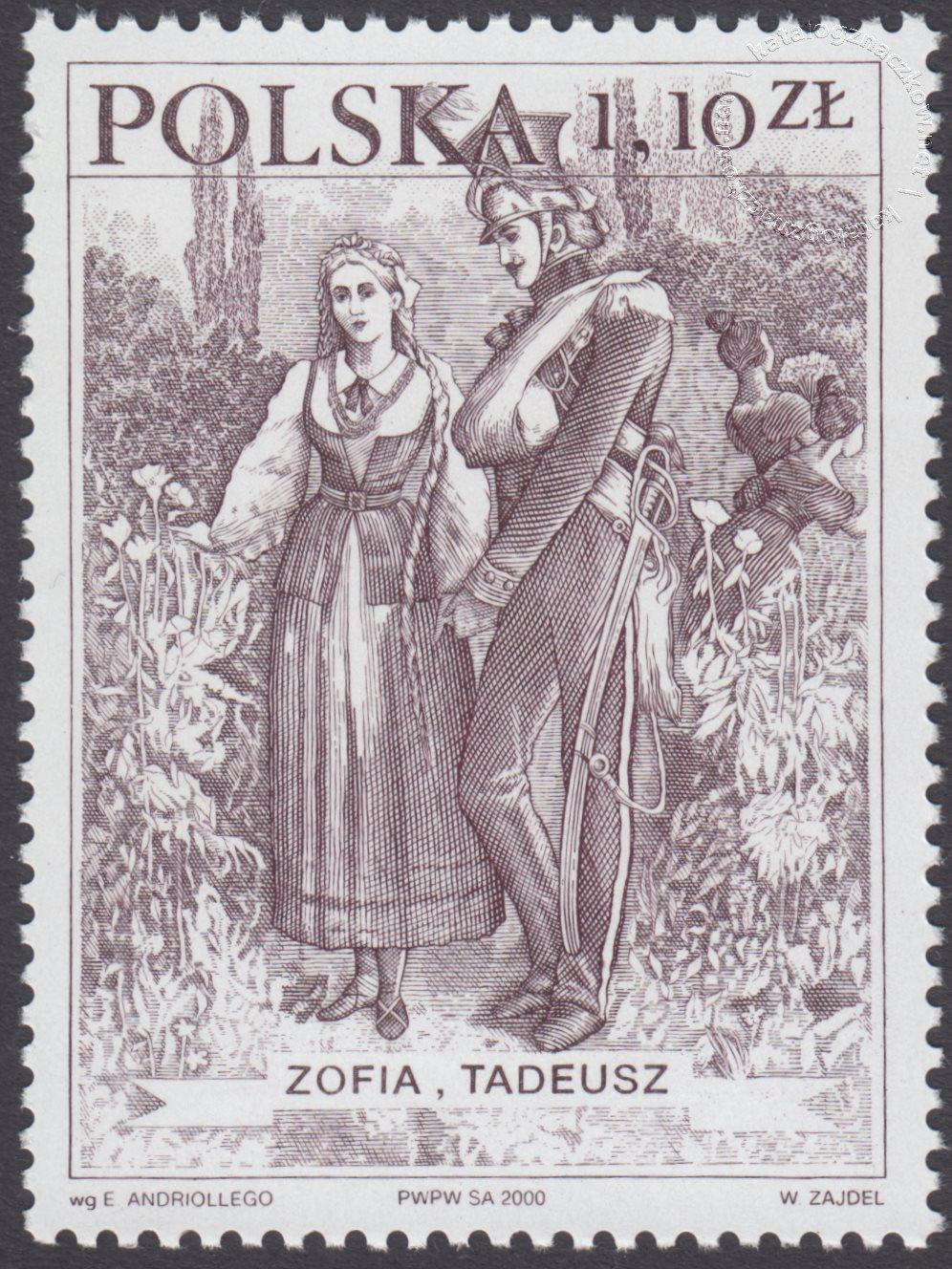 Bohaterowie Pana Tadeusza znaczek nr 3694