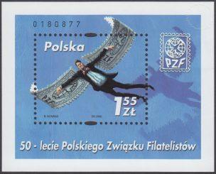 50-lecie Polskiego Związku Filatelistów - Blok 128
