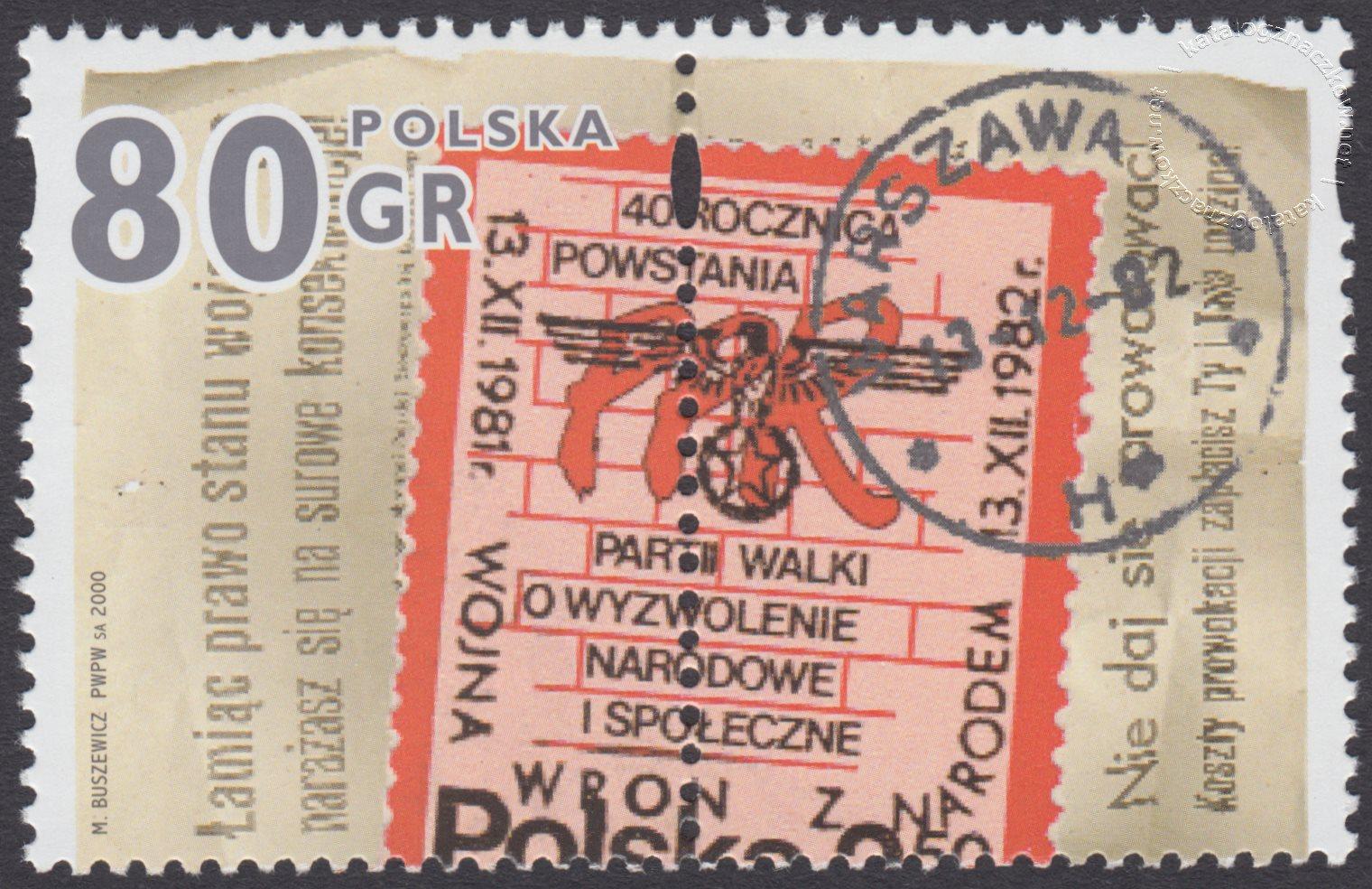Stan wojenny a poczta znaczek nr 3726