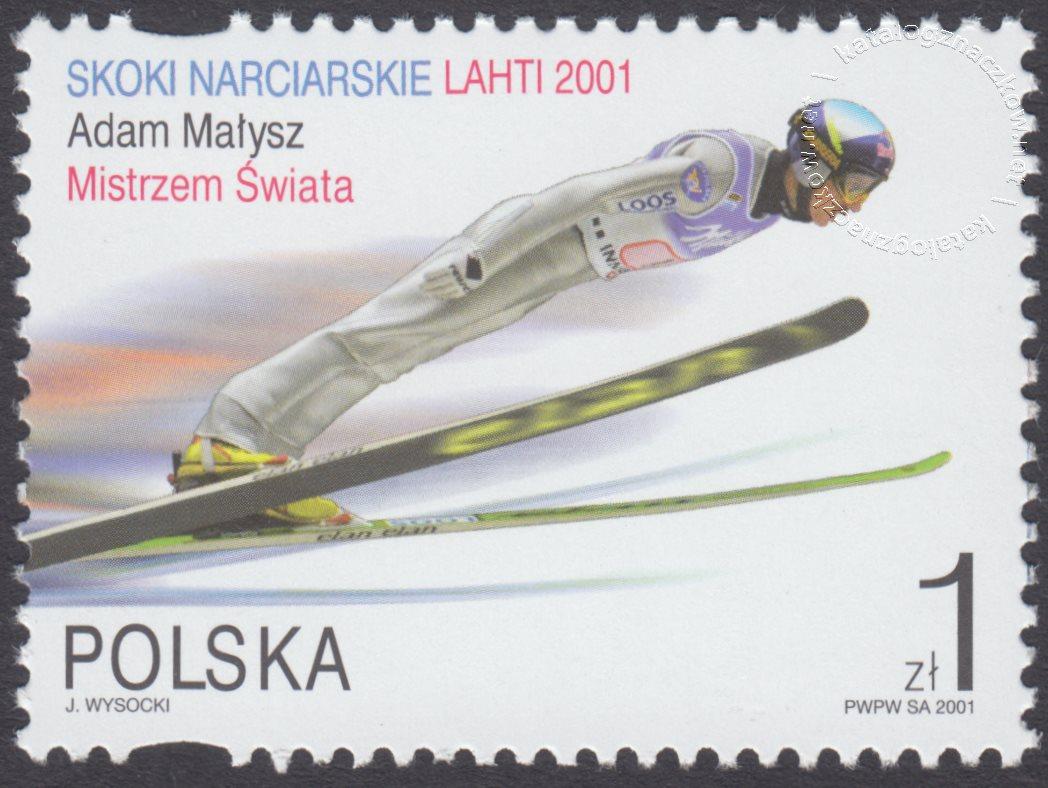 Skoki narciarskie na Mistrzostwach Świata Lahti 2001 znaczek nr 3730II