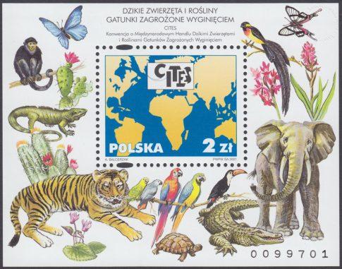 Dzikie zwierzęta i rośliny - gatunki zagrożone wyginięciem - Blok 129