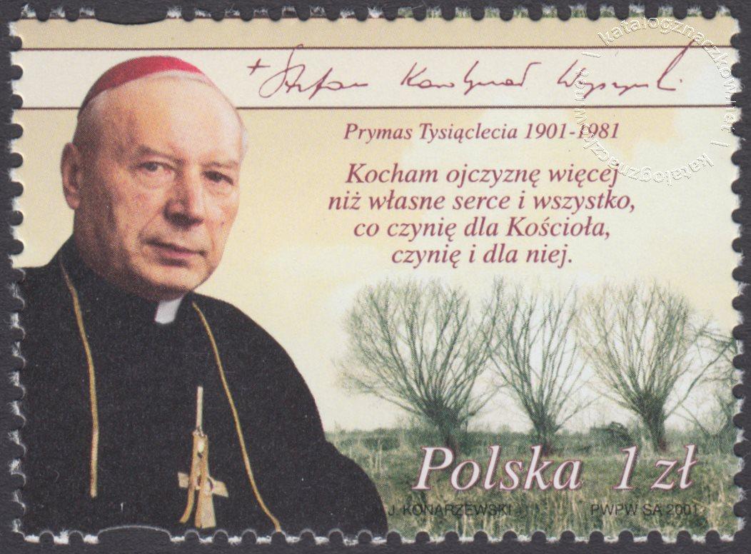100 rocznica urodzin kardynała Stefana Wyszyńskiego znaczek nr 3753