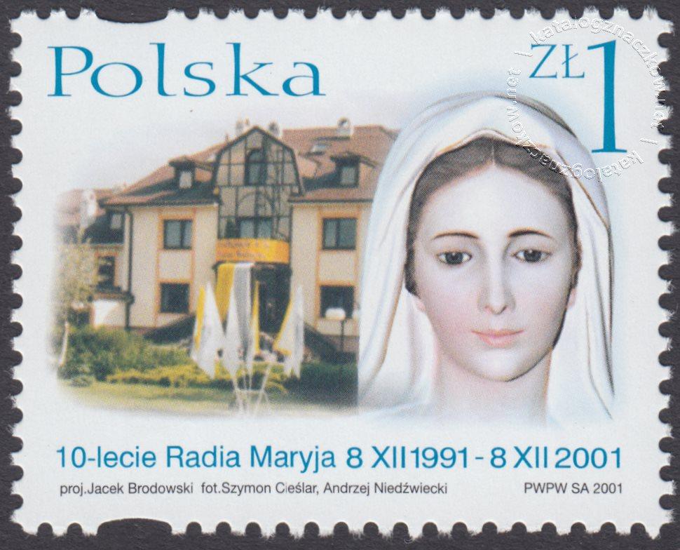 10-lecie Powstania Radia Maryja znaczek nr 3798