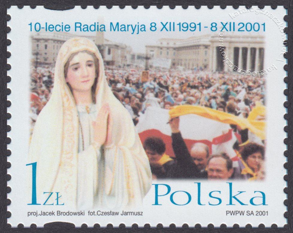 10-lecie Powstania Radia Maryja znaczek nr 3799