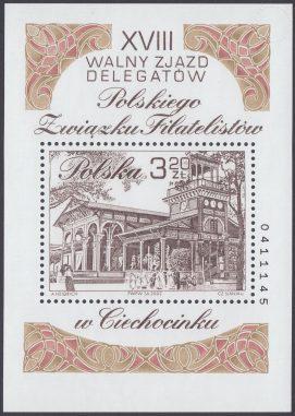 XVIII Walny Zjazd Delegatów Polskiego Związku Filatelistów w Ciechocinku - Blok 134B
