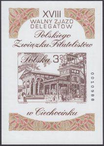 XVIII Walny Zjazd Delegatów Polskiego Związku Filatelistów w Ciechocinku - Blok 134A