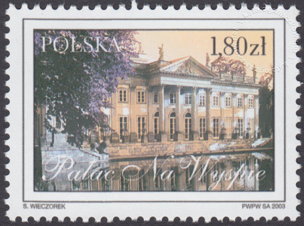Łazienki Królewskie znaczek nr 3903