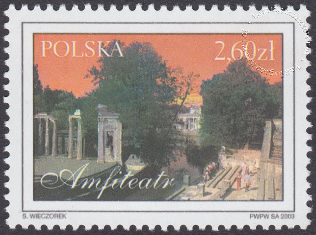 Łazienki Królewskie znaczek nr 3905