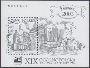 XIX Ogólnopolska wystawa filatelistyczna Katowice 2003 - Blok 136BND