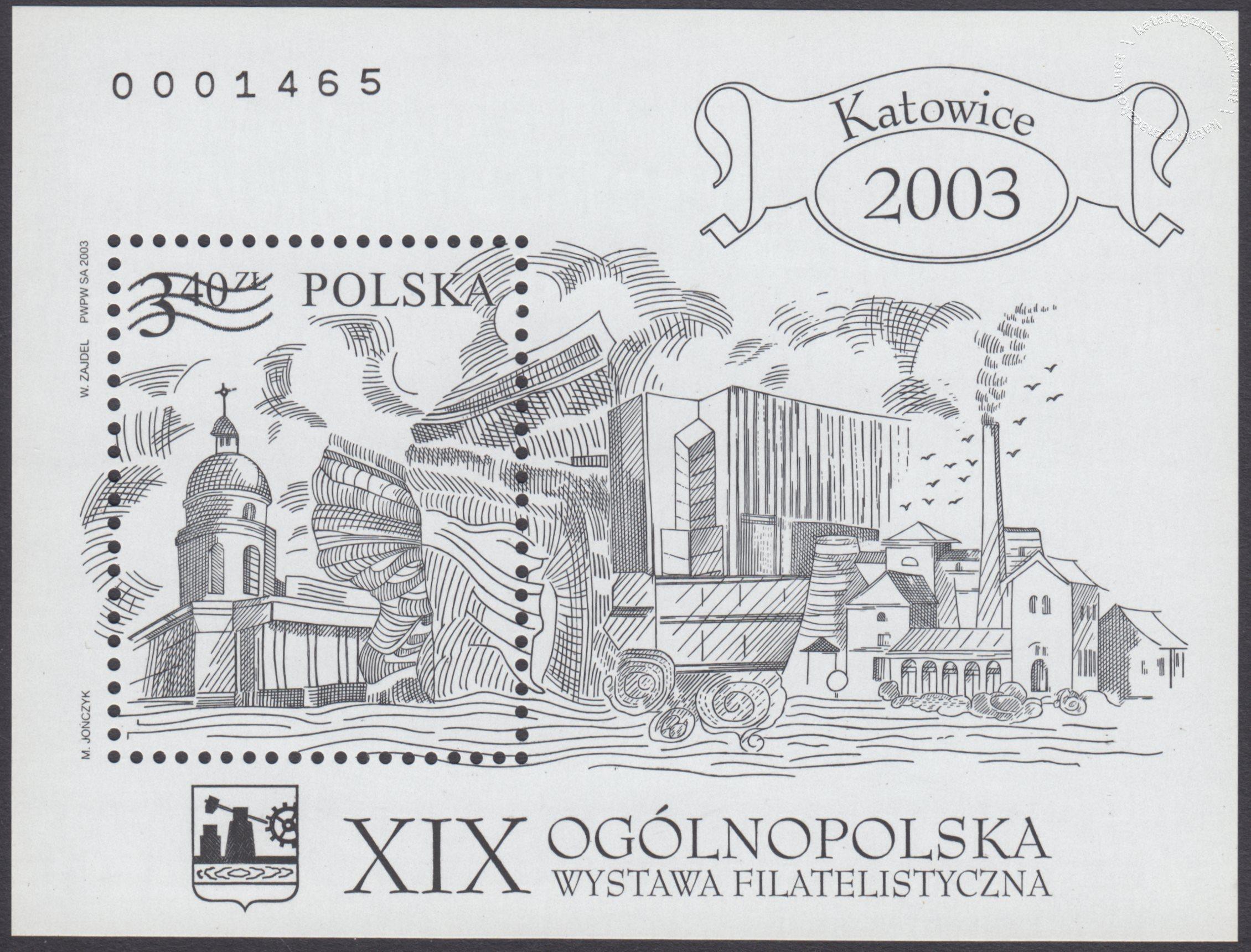 XIX Ogólnopolska wystawa filatelistyczna Katowice 2003 – Blok 136BND