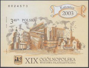 XIX Ogólnopolska wystawa filatelistyczna Katowice 2003 - Blok 136A