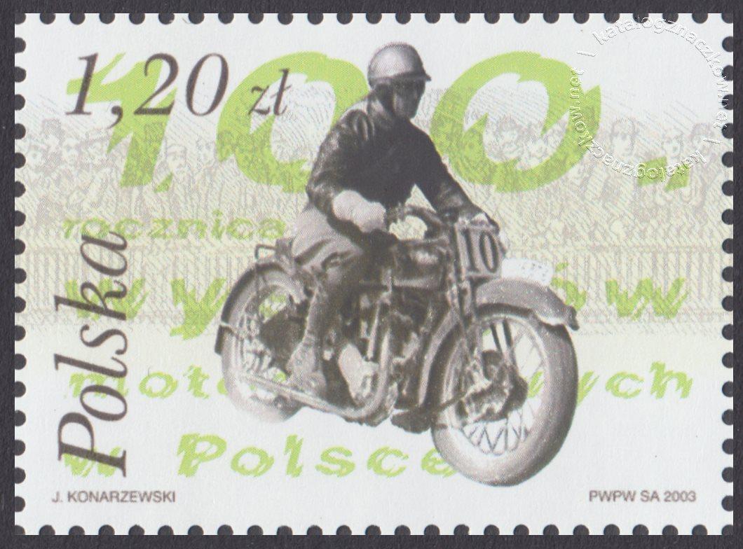 100 rocznica wyścigów motocyklowych w Polsce znaczek nr 3924