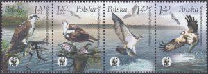 Ptaki znaczki nr 3929-3932