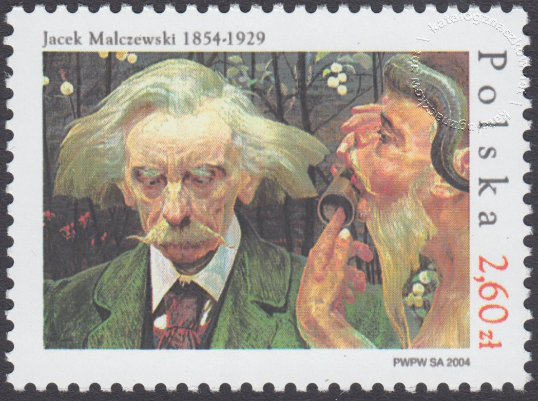 150 rocznica urodzin Jacka Malczewskiego znaczek nr 3974