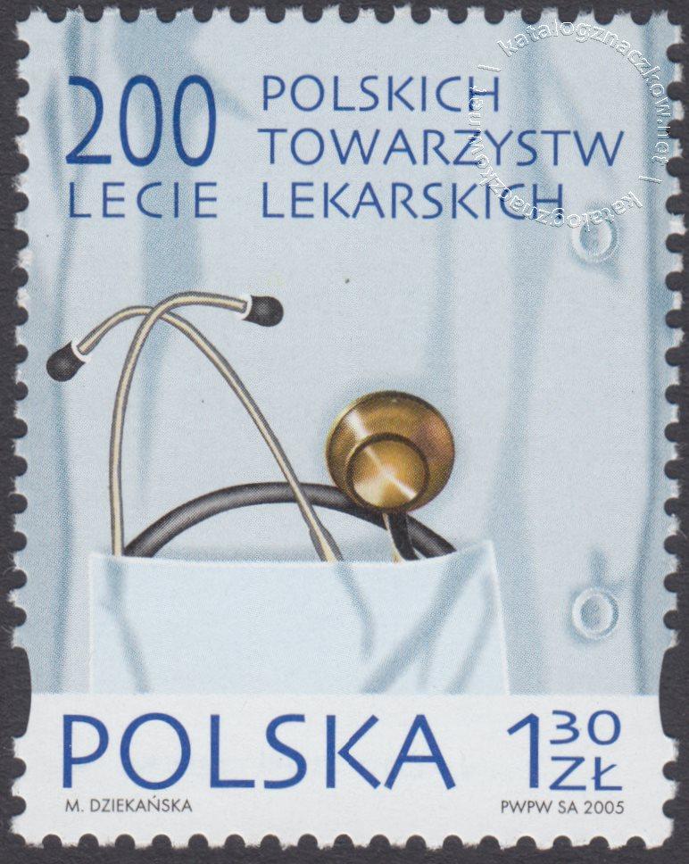 200-lecie Polskich Towarzystw Lekarskich znaczek nr 4074