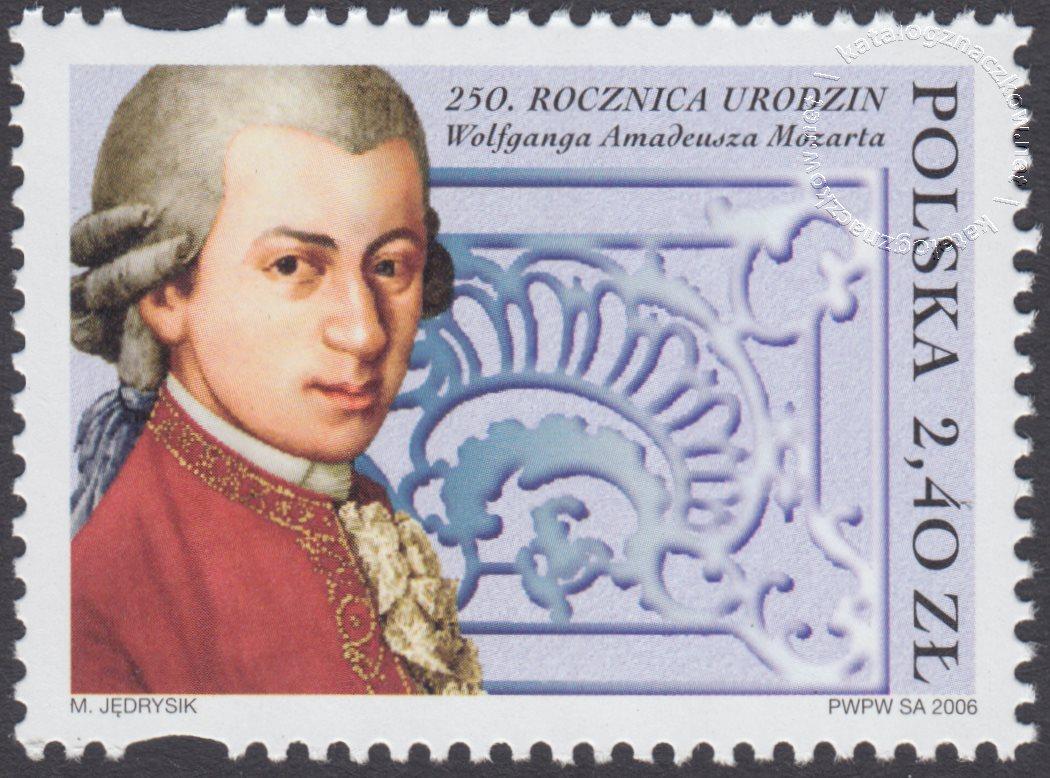250 rocznica urodzin Wolfganga Amadeusza Mozarta znaczek nr 4079