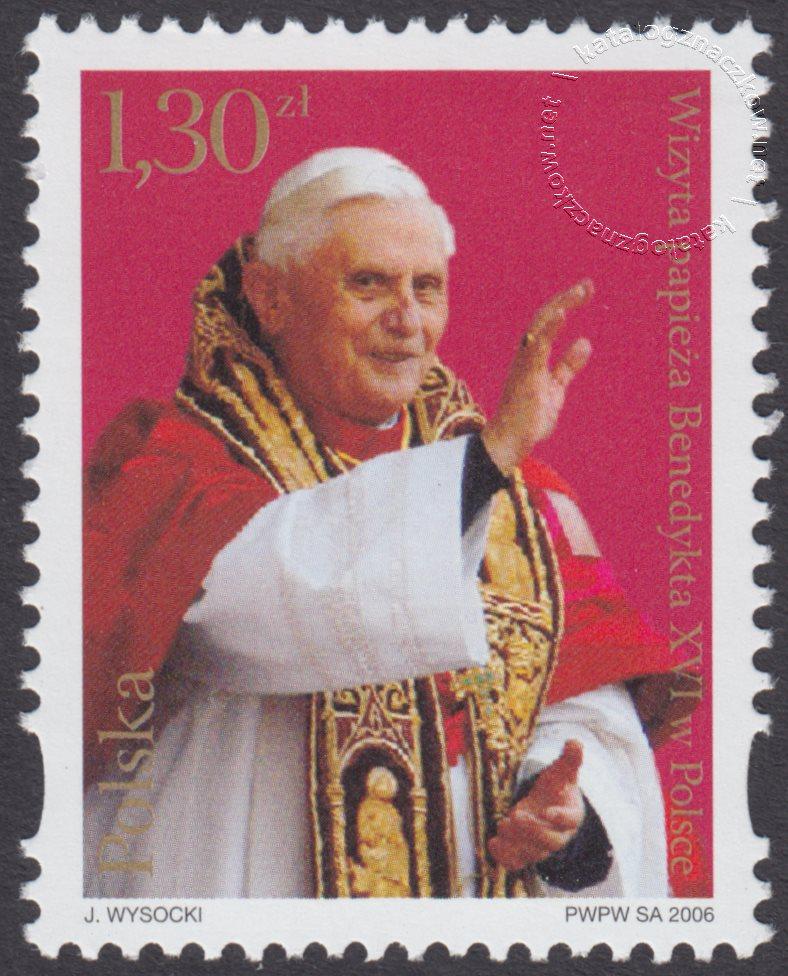 Wizyta papieża Benedykta XVI w Polsce znaczek nr 4091