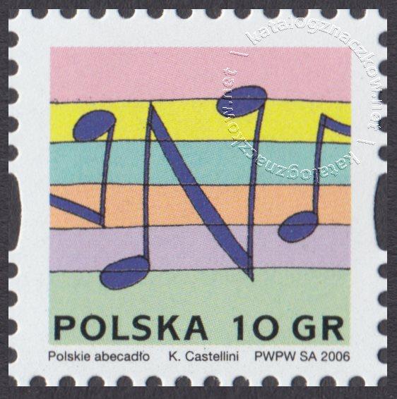 Polskie Abecadło znaczek nr 4133