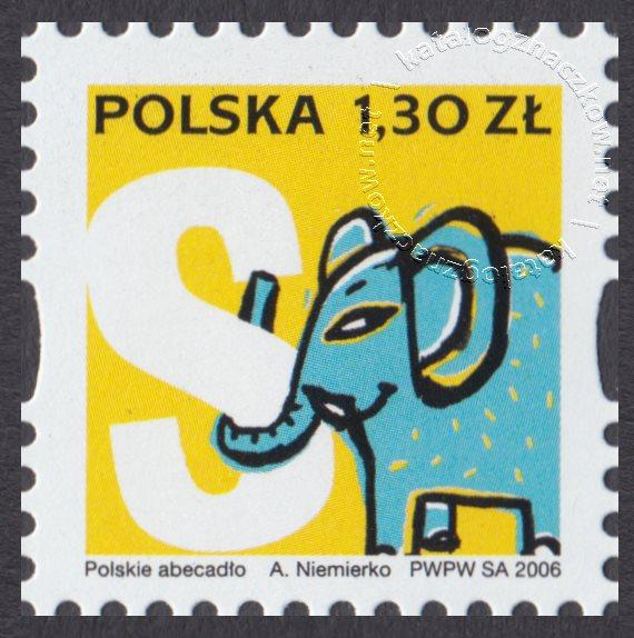 Polskie Abecadło znaczek nr 4137
