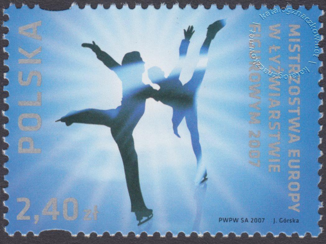 Mistrzostwa Europy w Łyżwiarstwie Figurowym – Warszawa 2007 znaczek nr 4149