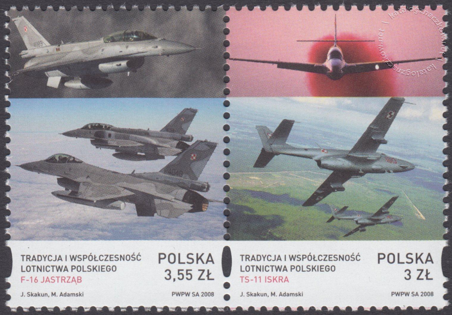 Tradycja i współczesność lotnictwa polskiego znaczki nr 4203-4204