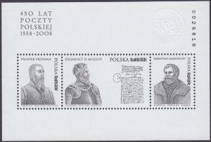 450 lat Poczty Polskiej 1558-2008 - Blok 148ND