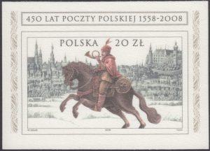 450 lat Poczty Polskiej 1558-2008 - Blok 149