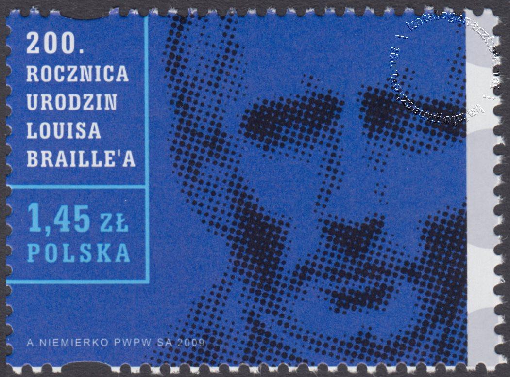 200 rocznica urodzin Louisa Braille'a znaczek nr 4257
